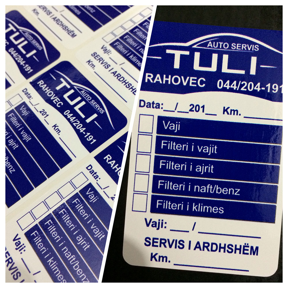 AutoServis Tuli Etiketa