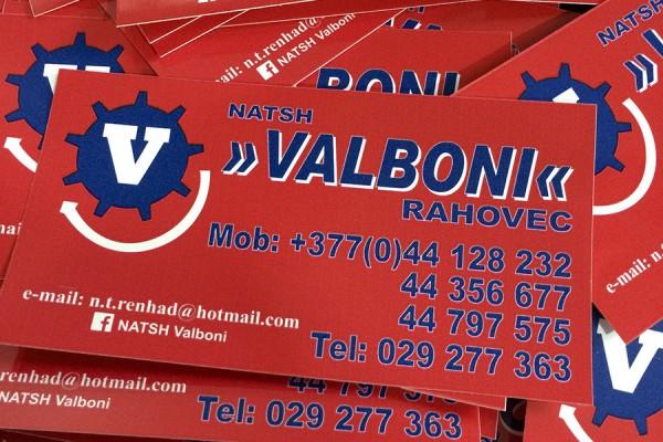 Valboni – Etiketa vetëngjitëse